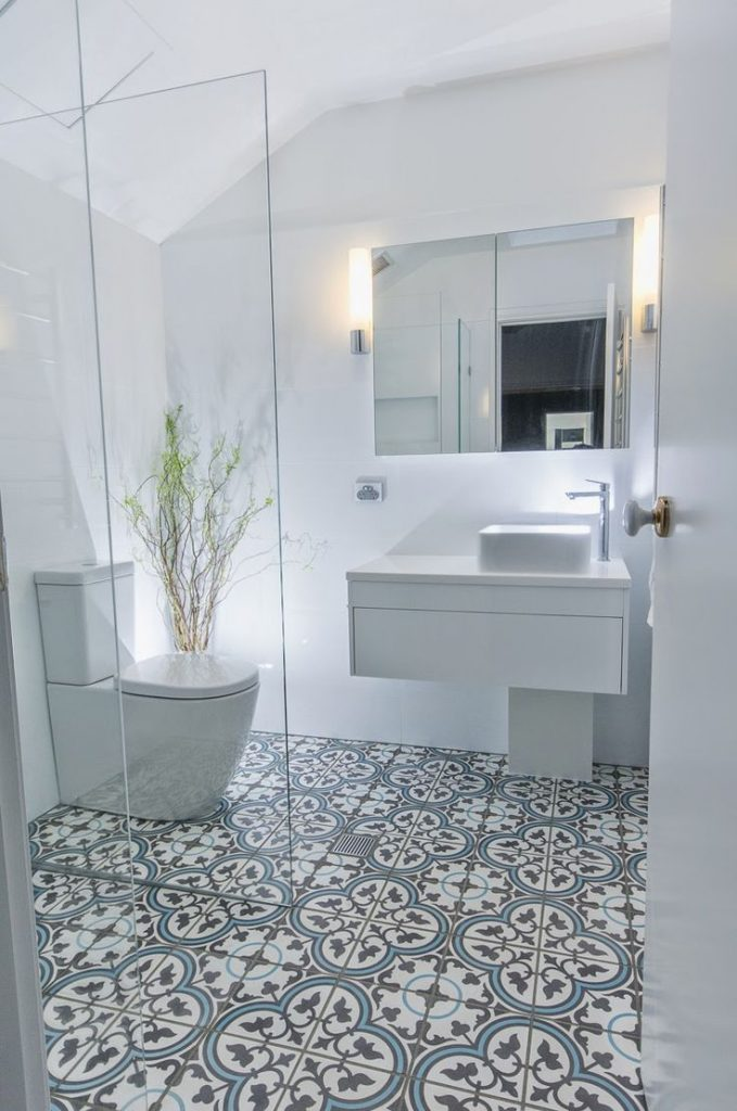 a nice Moroccan tile bathroom renovation